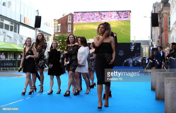 The Everton Ladies team arrive during the Everton End Of Season Awards at The Liverpool Philharmonic Hall on May 9 2017 in Liverpool England