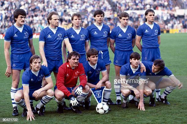 The Everton team group prior to the start of the Everton v Rapid Vienna UEFA European Cup Winners Cup Final played in Rotterdam Holland on the 15th...