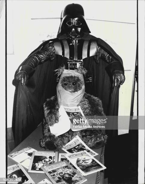 The evil Darth Vader was present at the Hilton Hotel today for the launching of a wide range of promotional products connected with the latest Star...