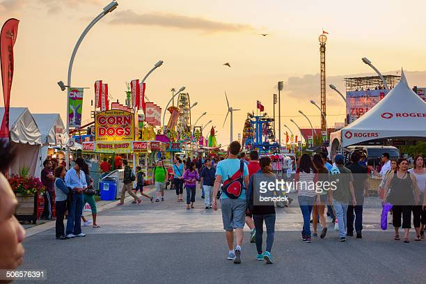 the ex, toronto, canada - canadian national exhibition stock photos and pictures