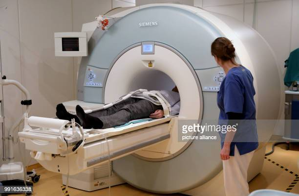 The examination of a patient in an MRT is being prepared in the radiology of the University medcine inRostock Germany 17 Novemebr 2017 The 7th...