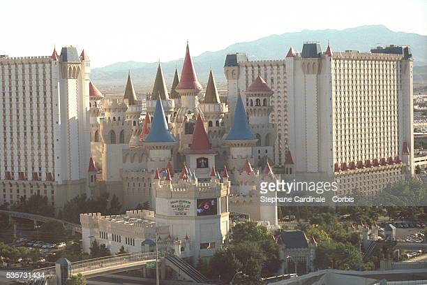 The 'Excalibur' Hotel and its replica of a castle from the Middle Ages