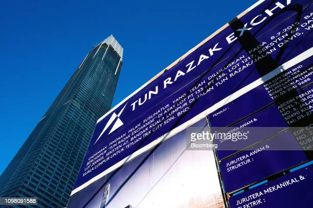 The Exchange 106 building stands under construction on the site of the Exchange TRX precinct in Kuala Lumpur Malaysia on Tuesday Feb 12 2019 The...