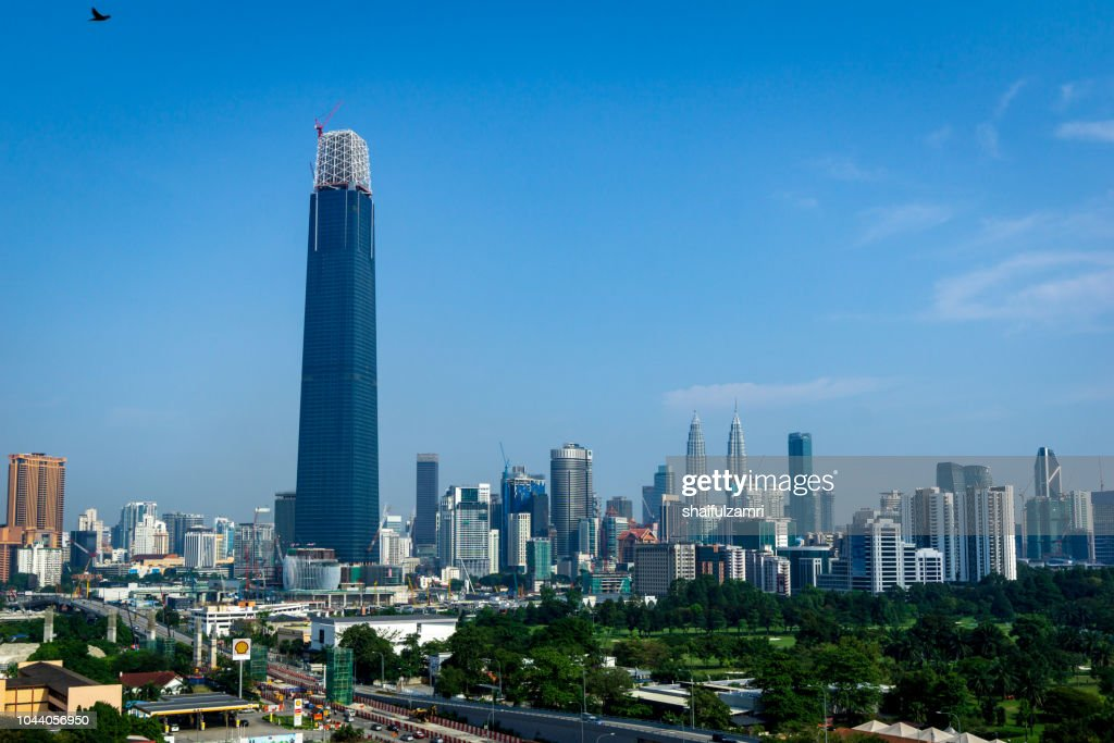The Exchange 106 (formerly TRX Signature Tower) is a skyscraper under construction within the Tun Razak Exchange (TRX) area in Kuala Lumpur, Malaysia. : Stock Photo