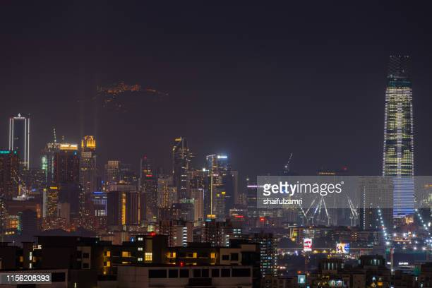 the exchange 106 (451.9m) is a skyscraper within the tun razak exchange (trx) area in kuala lumpur. - shaifulzamri stock pictures, royalty-free photos & images