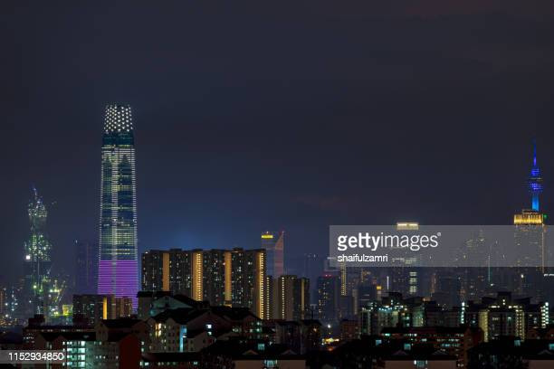 the exchange 106 (451.9m) is a tallest skyscraper in kuala lumpur, malaysia. - shaifulzamri stock pictures, royalty-free photos & images