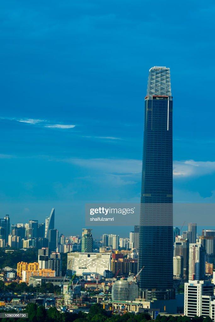 The Exchange 106 - new skyscraper under construction in Kuala Lumpur. : Stock Photo