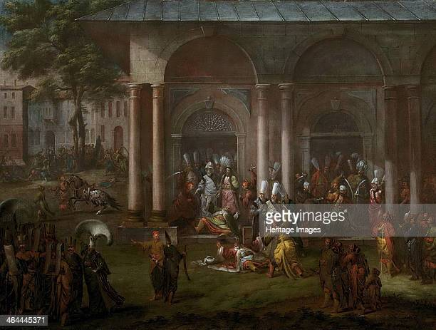 The execution of a minister during the Patrona Halil rebellion 1737 Found in the collection of the Rijksmuseum Amsterdam