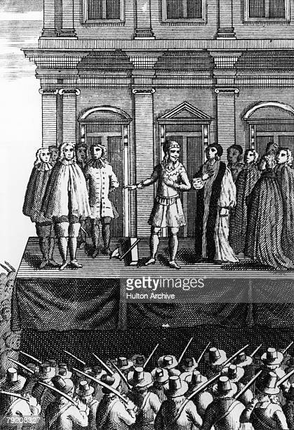 The execution of King Charles I at Whitehall 30th January 1649 An illustration from a prayer book of James II's reign entitled 'Martyrdom Of K...