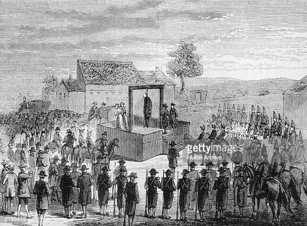 The execution of Laurence Shirley Ferrers 4th Earl Ferrers on the 5th May 1760 at Tyburn for the murder of his steward Mr Johnson