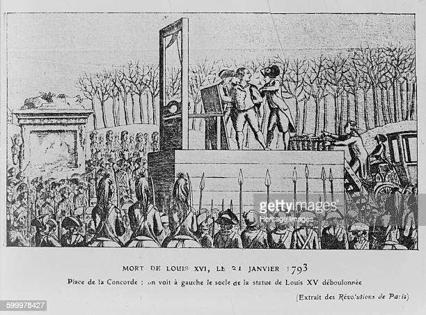 The Execution of Louis XVI in the Place de la Revolution on 21 January 1793 c 1793 Private Collection Artist Anonymous