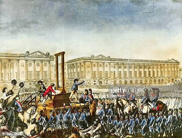 The execution of Louis XVI on January 21 1793