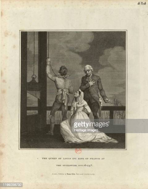 The Execution of Marie Antoinette on October 16 1815. Found in the Collection of Bibliothèque Nationale de France. Artist Anonymous.