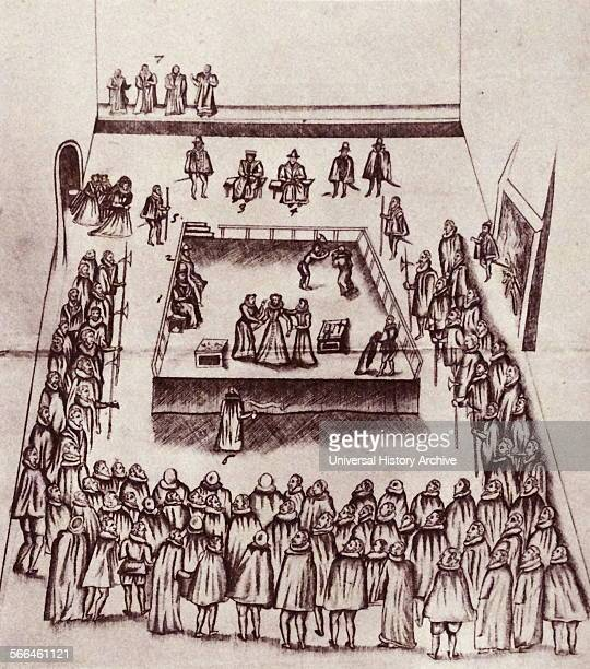 The execution of Mary Queen of Scots at Fotheringay Castle 1587 From The Island Race a 20th century book that covers the history of the British Isles...