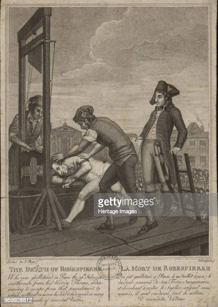 The execution of Robespierre on 28 July 1794 1794 Private Collection