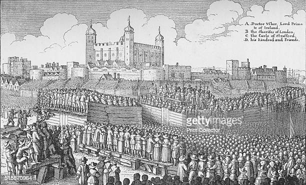 The execution of the Earl of Strafford on Tower Hill, London, 12 May 1641 . Thomas Wentworth, 1st Earl of Strafford was Lord Deputy of Ireland from...