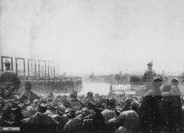 The execution of the terrorists in Russia 18841885 Artist Vereshchagin Vasili Vasilyevich