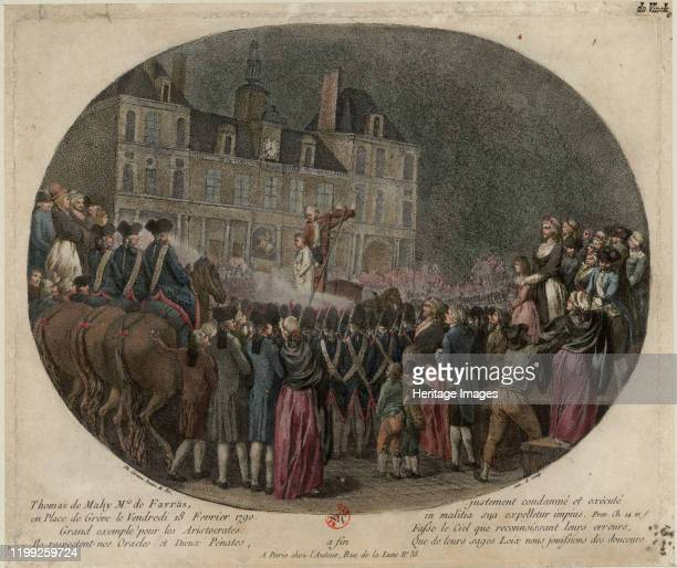 The Execution of Thomas de Mahy Marquis de Favras February 18 1790 Found in the Collection of Bibliothèque Nationale de France Artist Caresme Jacques...