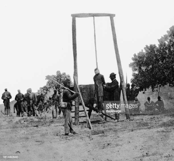 The execution of William Henry Johnson a private in Company D 1st New York Cavalry on the 13th of December 1861 for the crime of desertion In his...