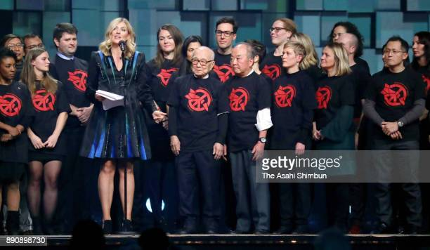 The Executive Director Beatrice Fihn of the International Campaign to Abolish Nuclear Weapons representing ICAN Nobel Peace Prize winner 2017 speaks...