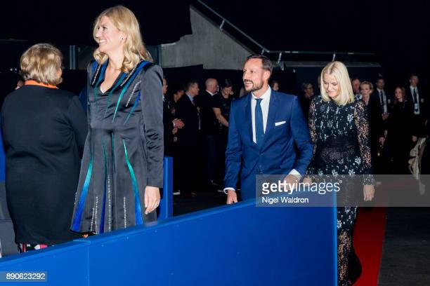 The Executive Director of the International Campaign to Abolish Nuclear Weapons Beatrice Fihn Prince Haakon of Norway and Princess Mette Marit of...