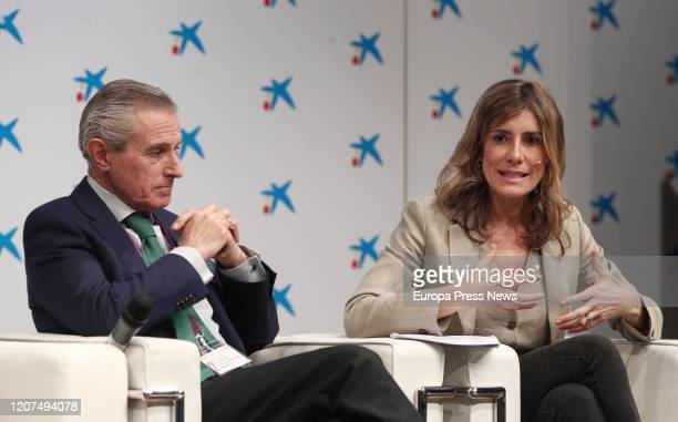 The Executive President of Europa Press and Vice President of SERES Foundation Asis Martin de Cabiedes and the wife of the president of the...
