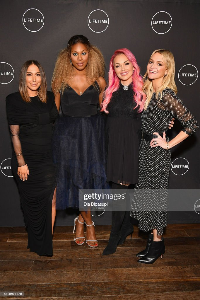 The Executive Producer and cast of Lifetime's new show, 'Glam Masters,' Diana Madison, Laverne Cox, Kandee Johnson, and Zanna Roberts Rassi, attend the exclusive premiere event at Dirty French on February 26, 2018 in New York City.