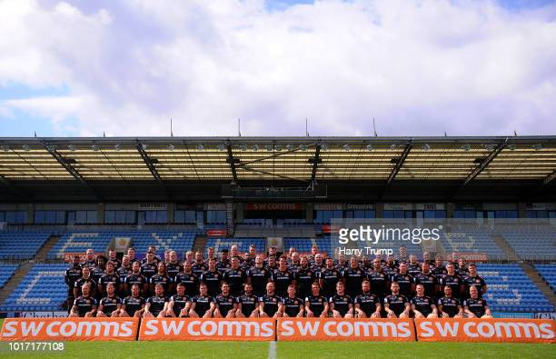 Sam Simmonds of Exeter Chiefs poses for a portrait during the Exeter Chiefs squad photo call for the 201819 Gallagher Premiership Rugby season at...