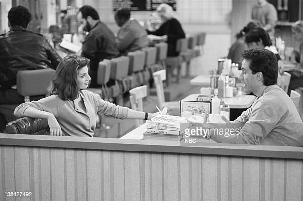 SEINFELD The ExGirlfriend Episode 1 Pictured Tracy Kolis as Marlene Jerry Seinfeld as Jerry Seinfeld