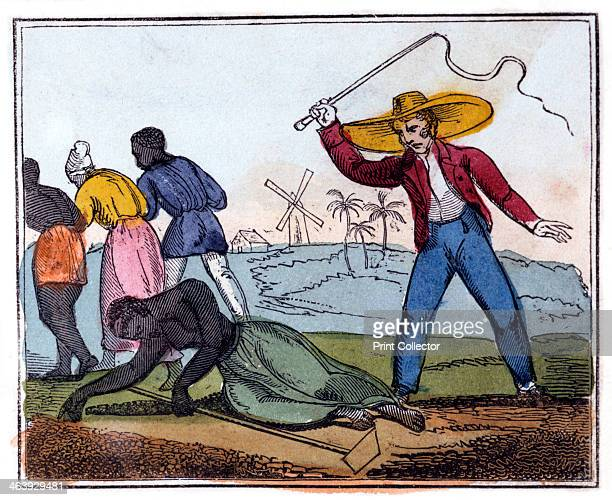 'The Exhausted Slave Whipped' 1826 From 'The Black Man's Lament or How to Make Sugar' by Amelia Opie