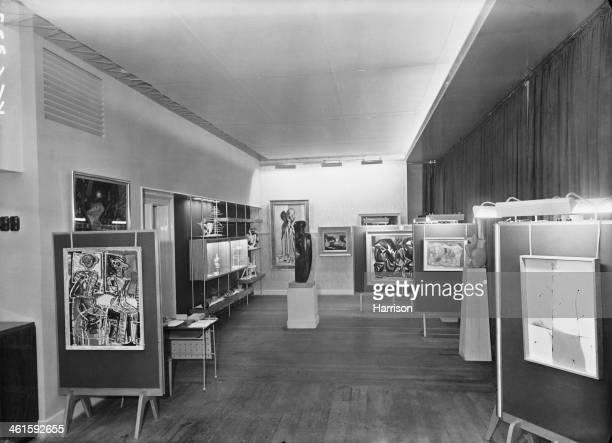 The exhibition and lecture room at the opening of the new premises of the Institute of Contemporary Arts at 17 Dover Street, Piccadilly, London, 13th...