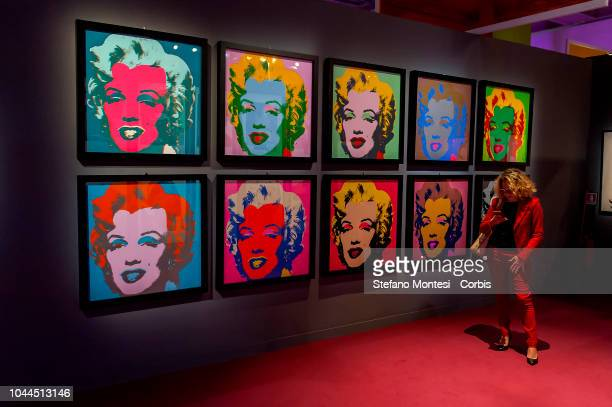 The exhibition 'Andy Warhol' at the Victorian Complex until 3 February 2019 on October 2 2018 in Rome Italy An exhibition entirely dedicated to the...