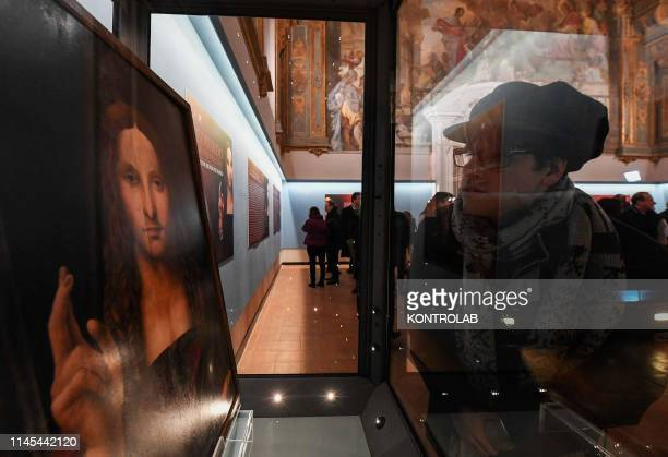 The exhibition in the diocesan museum of Naples, of the Salvator Mundi, an alleged painting by Leonardo Da Vinci found in Naples, unleashed by the...
