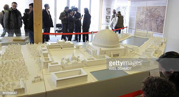 The exhibition 'Myth Germania' displays Hitlers vision for Berlin including a model of the 'hall of the people' designed by the Nazi architect Albert...