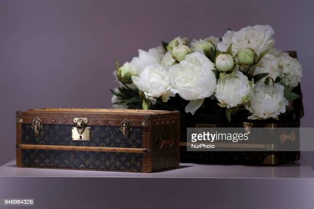 the exhibition 'Time Capsule' on French fashion house Louis Vuitton's history at the ThyssenBornemisza Museum in Madrid Spain 16 April 2018 The...