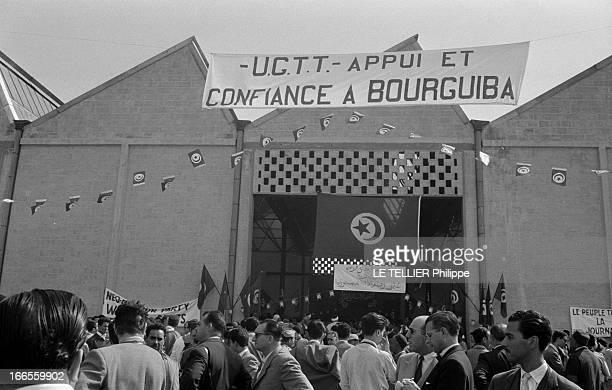 The Exile On Groix Island And The Triumphal Return Of Habib Bourguiba In Tunisia. Tunis- 5 juin 1955- Après son exil par les autorités françaises, le...