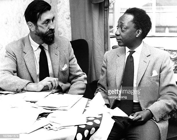 The exiled Mutesa II pictured with Major Richard Carr-Gomm , in Bermondsey, London, circa 1960. The former Kabaka of Buganda was considering a career...