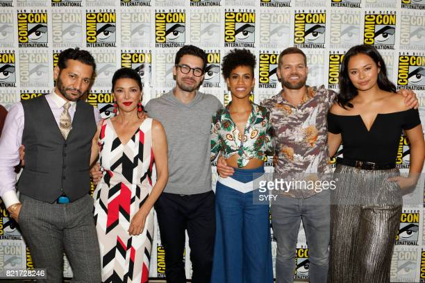 DIEGO The Expanse Press Room Pictured Cas Anvar Shohreh Aghdashloo Steven Strait Dominique Tipper Wes Chatham Frankie Adams