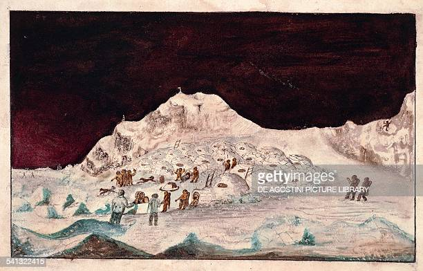 The expedition of Captain John Ross in the Arctic painting. North Hendon, United Kingdom, 19th century.