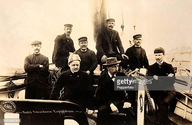 The expeditionary force of Norwegian explorer Roald Amundsen aboard the Fram circa 1906