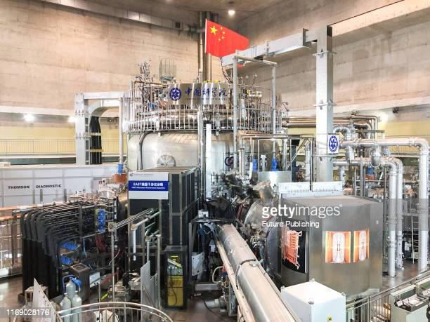 The Experimental Advanced Superconducting Tokamak , internal designation HT-7U, an experimental superconducting tokamak magnetic fusion energy...