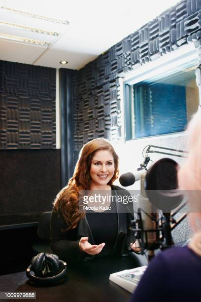 the expert in radio interviews - radio broadcasting stock pictures, royalty-free photos & images