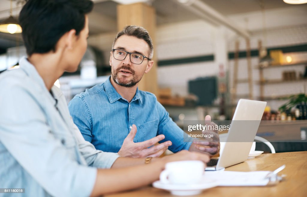 The experts at operating a successful coffee shop : Stock Photo