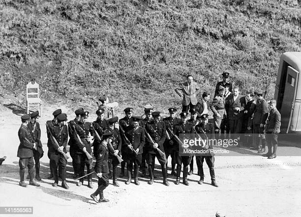 The expolice chief of Rome before being shot by a firing squad near Forte Bravetta Rome 22nd September 1944