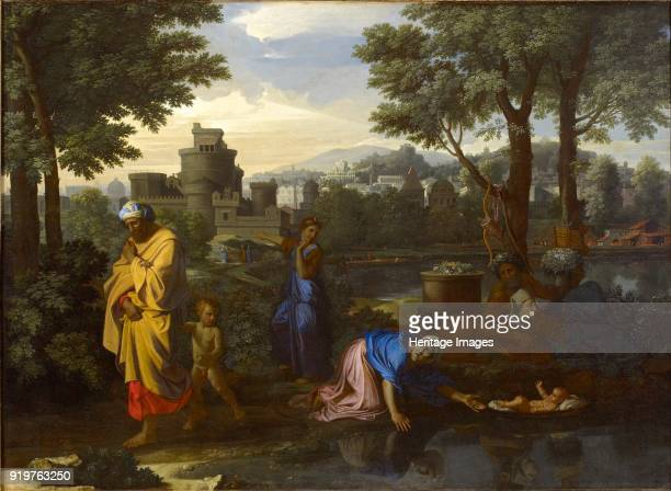 The Exposition of Moses 1654 Artist Nicolas Poussin