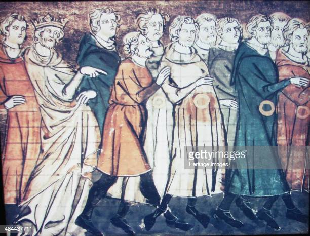 The expulsion of Jews from France in 1182 , 1320s. Found in the collection of the Bibliothèque Nationale de France.