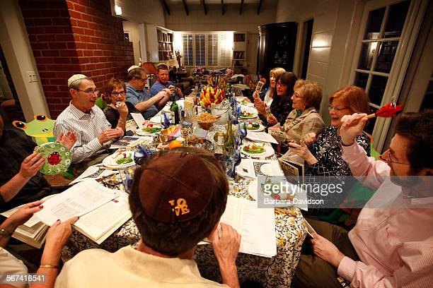 LOSANGELES CA 0413 The extended Wolfson family gather for a Passover Seder feast April 14 2014 in Encino Ca Dr Ron Wolfson head of table is a...