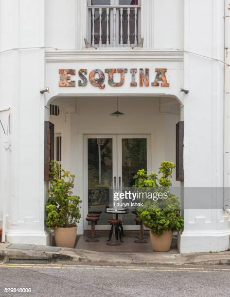 The exterior at Esquina, Jiak Chuan Road, Singapore