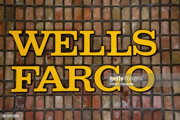 The exterior brick facade of the Wells Fargo Bank in Aspen Colorado