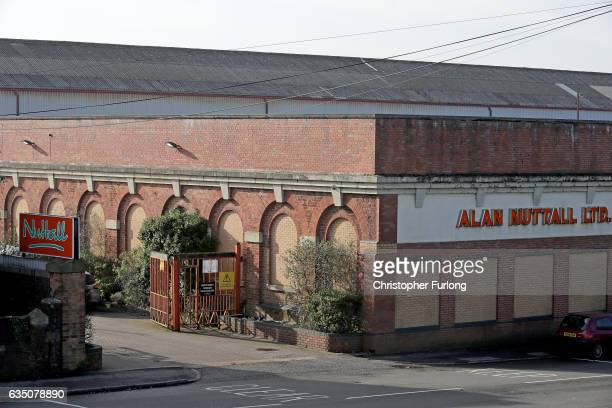 The exterior fo Alan Nuttall Ltd in the Black Country where a fire station has been discovered untouched for half a century on February 13 2017 in...